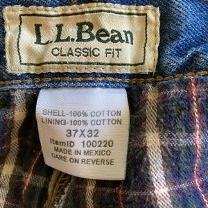 Men's flannel lined jeans